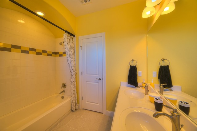 Caballo ranch contemporary bathroom austin by for Modern ranch bathroom