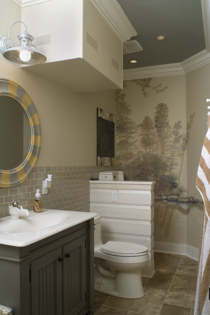 Cabana Pool House Bathroom