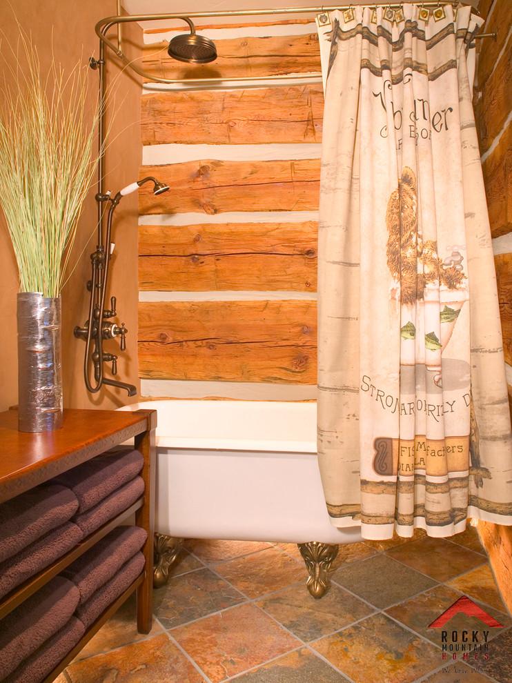 Bathroom - rustic ceramic tile ceramic floor bathroom idea in Other