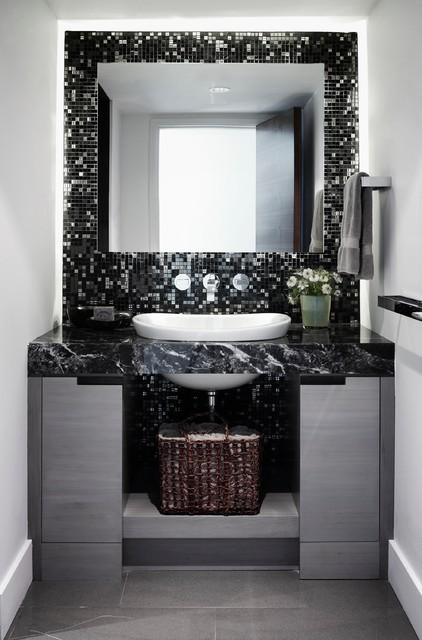 Cabin living modern-bathroom