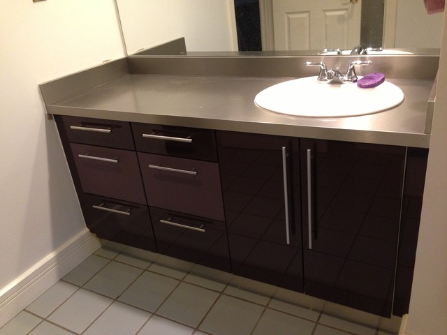 bathroom cabinets refacing cabinet refacing modern bathroom denver by ids 10415