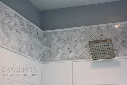 Bathroom Tile Quarter Round the trim at top aren't these call pencil liners or quarter round