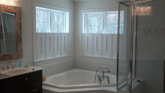 Cafe Shutters Coopersburg Pa Contemporary Bathroom