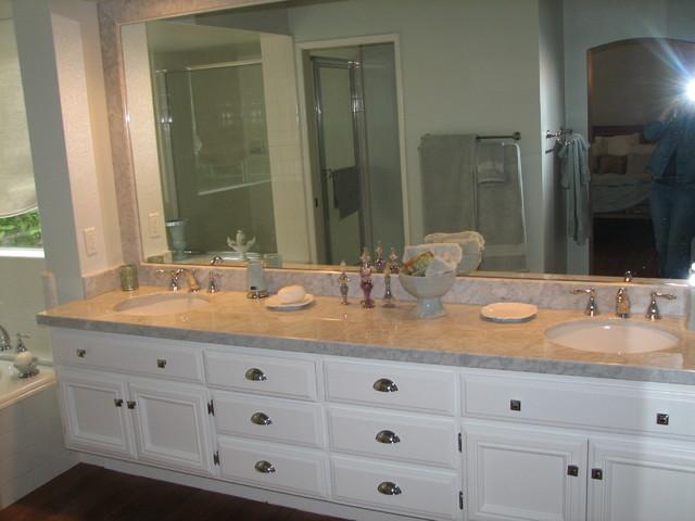 Calabasas Home Remodel Carrera Marble Master Bath Update