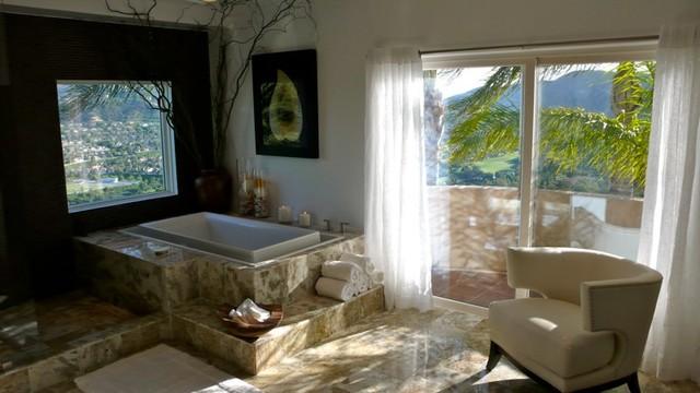 Calabasas Oasis mediterranean-bathroom