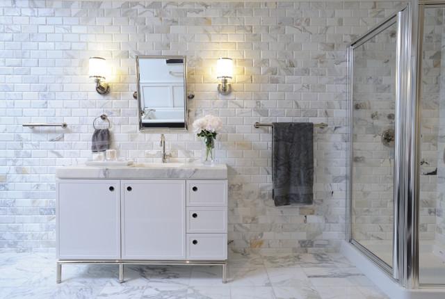 Calacatta Bathroom Contemporary Bathroom New York By Akdo