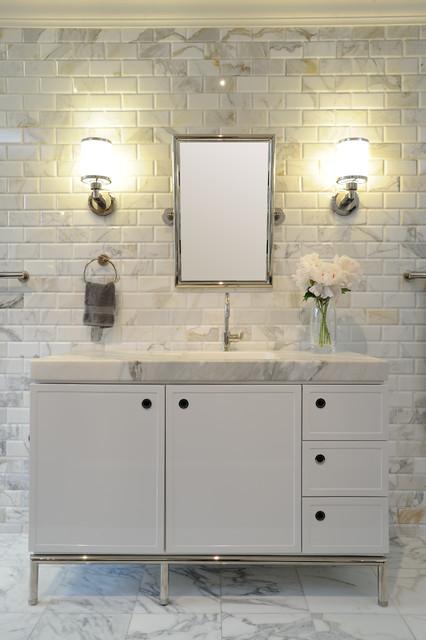 Calacatta Bathroom Contemporary Bathroom By Akdo