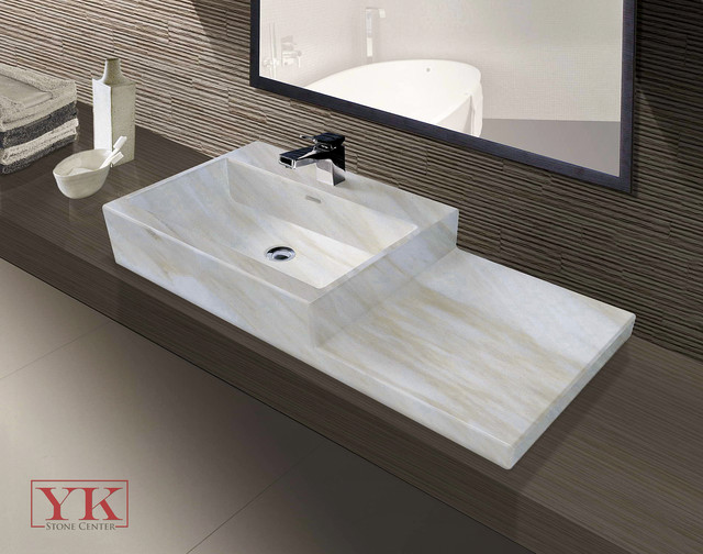 Calacatta Bella Solid Marble Vessel Sink  At YK Stone Center Only. $2000.00  Contemporary