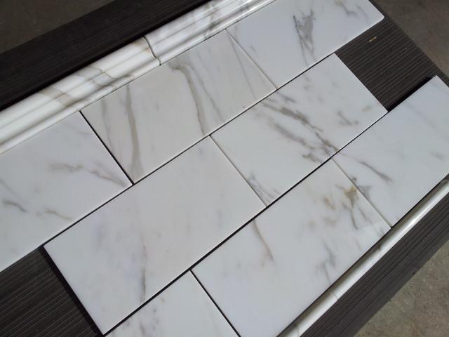 Calacatta Borghini Italian Marble 6x12 Subway Tile