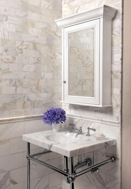 Calacatta Gold Bathroom Traditional Bathroom