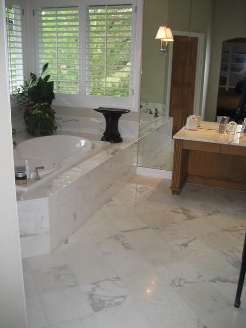 Calacatta Gold Marble Bathroom Denver By Artifex
