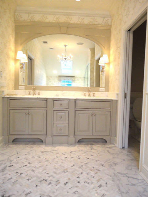 Calacatta Master Bath Traditional Bathroom New York