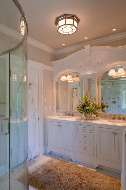 Calacatta Michelangelo Marble Vanity Traditional Bathroom Portland Maine By Morningstar
