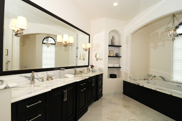 Calcutta marble master bathroom orlando by krista for Marble master bathroom designs