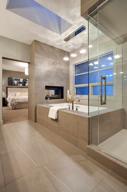Calgary - Lott Creek Landing S.W. contemporary-bathroom