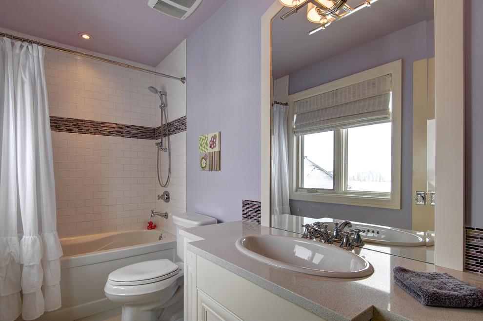 Bathroom - traditional bathroom idea in Calgary