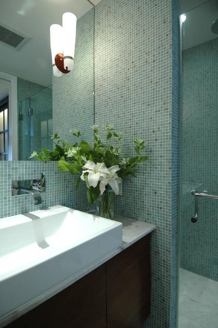 California Cool in the Castro-Bathroom contemporary-bathroom