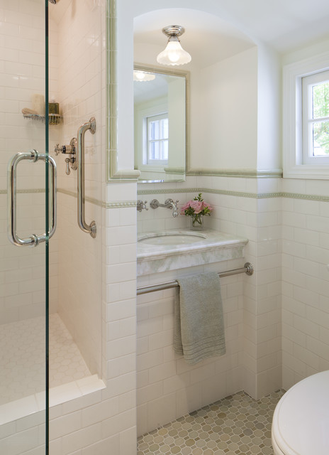 California Tudor Style Residential Remodel traditional bathroom
