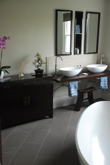 Camberwell Grove Japanese Inspired Ensuite asian-bathroom
