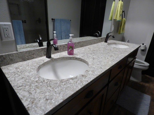 Cambria Berwyn vanity - Contemporary - Bathroom - other metro - by Stone Center
