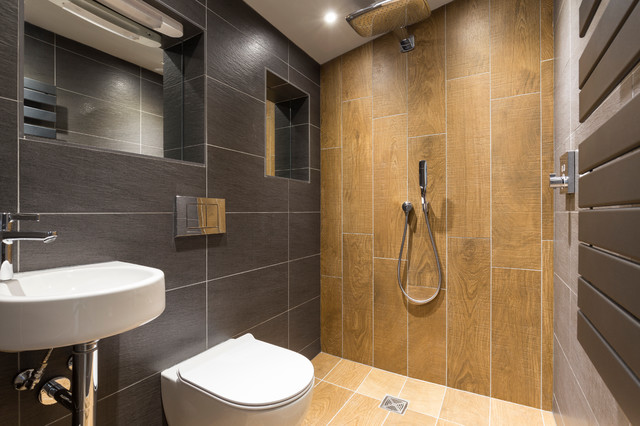 Cambridge Modern New Build Pas And Aylar Contemporary Bathroom London By Model