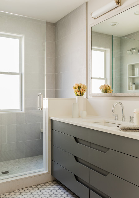 Cambridge Victorian Transitional Bathroom Boston By Elms Interior Design
