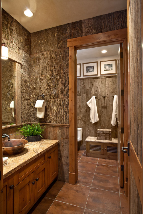 Traditional Powder Room Design By Salt Lake City General Contractor