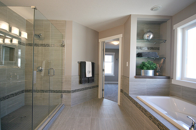 Model Home Bathroom Fascinating Cameron Model Show Home  Traditional  Bathroom  Edmonton . Review