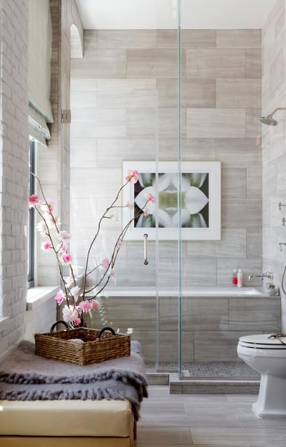 Campion Platt, Holiday House Hamptons 2014 contemporary-bathroom