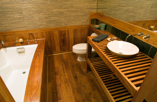Canary Wood Bathroom Asian Portland By