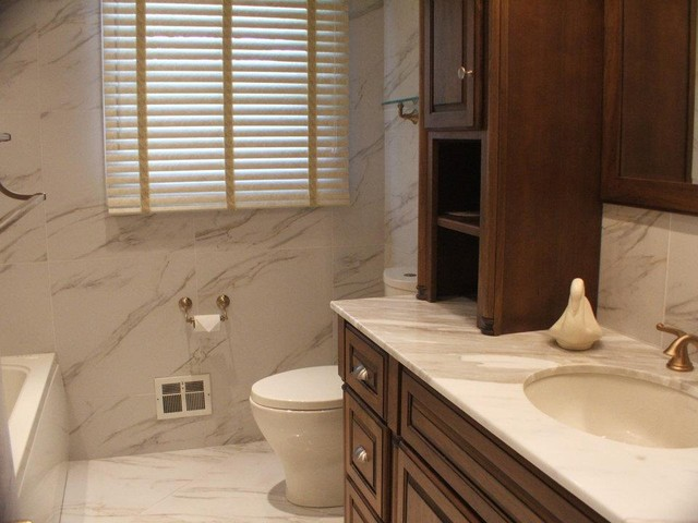 Cancos Tile  Bathroom  By Cancos Tile & Stone. Typhoon Bordeaux Granite. Rustic Counter Stools. Bright Light Ceiling Fan. Wingback Wicker Chair. Nautical Wallpaper. Ethan Allen Portland Maine. Lowes Sandusky Ohio. House Hunters Renovation