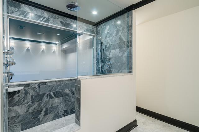 Canton Custom Bathroom Remodel Bathroom Baltimore By Chesapeake Tile Marble Inc