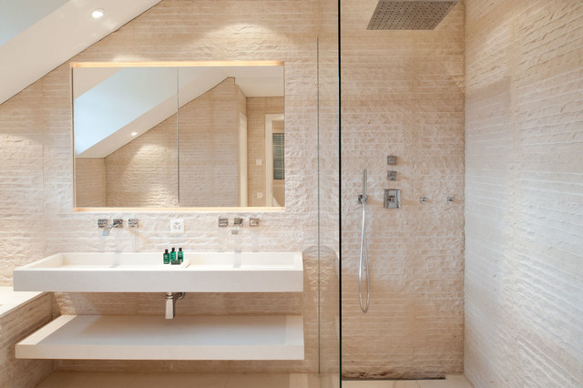 Contemporary Bathroom Idea In Other With An Integrated Sink