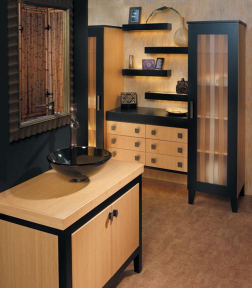 Canyon Creek Millennia - Solano & Quattro in Bamboo & Maple - frameless asian-bathroom