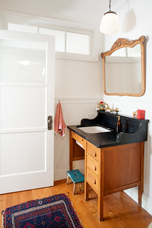 10 pieces of furniture to turn into a bathroom vanity for How to increase cabinet depth