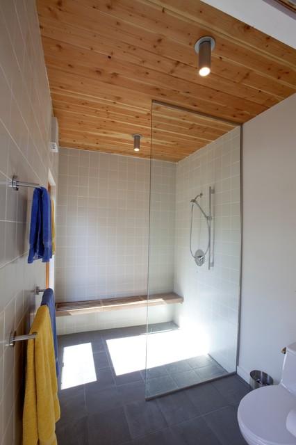 Cape Cod Modern House Addition, Wellfleet midcentury-bathroom