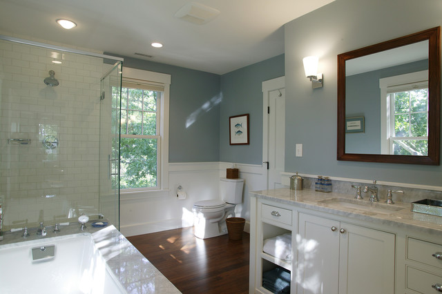 Cape cod renovation master bath traditional bathroom for Traditional master bathroom ideas