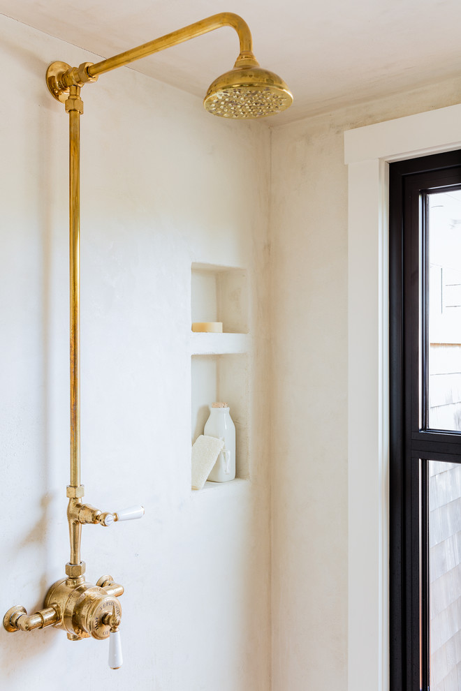Inspiration for a transitional bathroom remodel in Boston