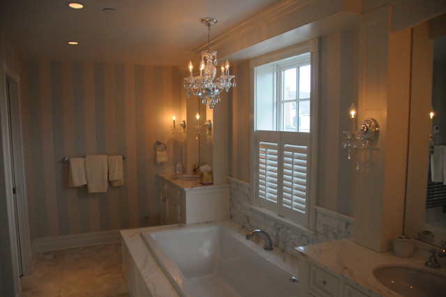 Cape may beach house traditional bathroom other for Bright lights design center