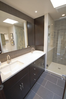 Modern Bathroom Remodels capitol hill condo bathroom remodel - modern - bathroom - seattle