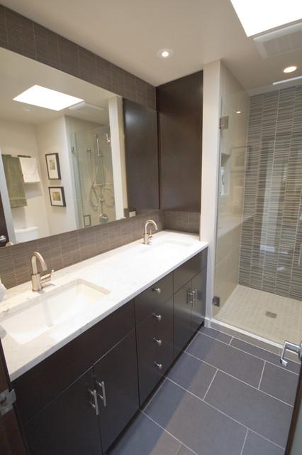 Bathroom Modern Bathroom Design Glass Work Unique Way To: Capitol Hill Condo Bathroom Remodel