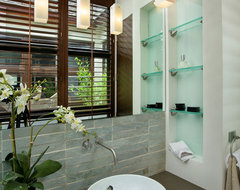 Captiva House contemporary bathroom