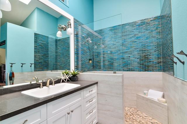 Carlsbad caribbean sanctuaries beach style bathroom for Caribbean bathroom ideas