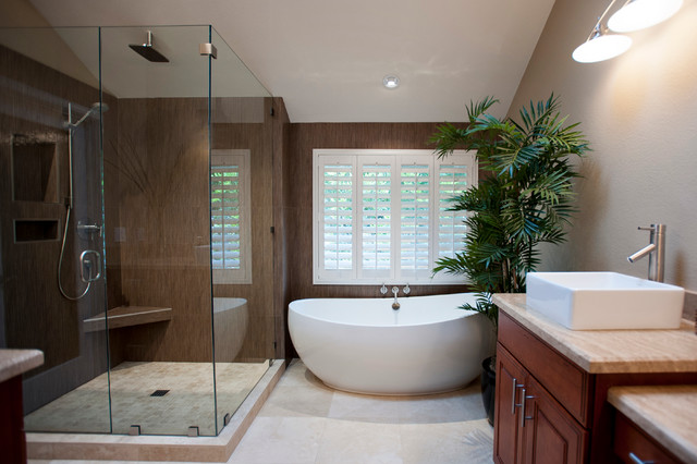 Carlsbad master bath contemporary bathroom san diego for Master bathroom modern