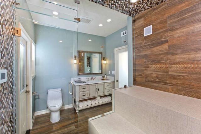 Carlsbad Steam Shower And Bathroom Remodel Rustic Bathroom San Diego By Signature