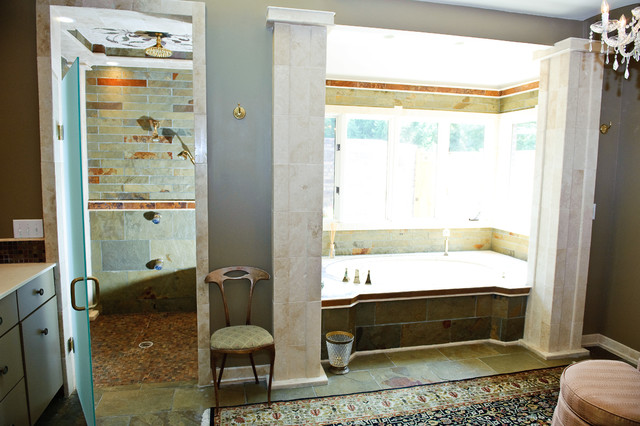 Carmel Mosaic Bathroom Traditional Bathroom Indianapolis By Jensen Design