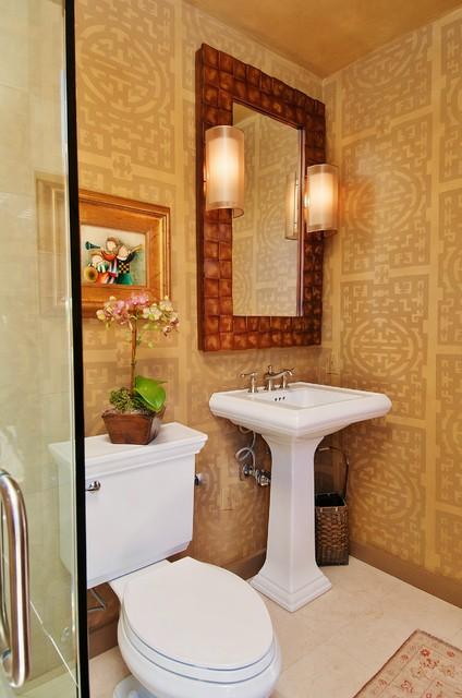 Carmel Valley and Santa Lucia Mountains eclectic-bathroom