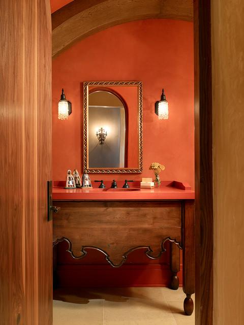 Carmel Valley Retreat mediterranean-bathroom