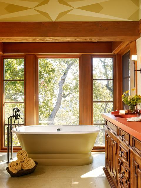 Carmel valley retreat mediterranean bathroom san francisco by scavullodesign interiors - Bathroom design san francisco ...