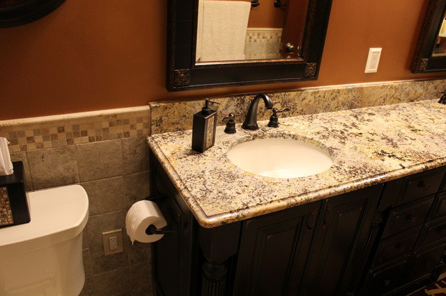 Carolina Summer Granite - Traditional - Bathroom - detroit - by Lowe's of Lyon Township, MI